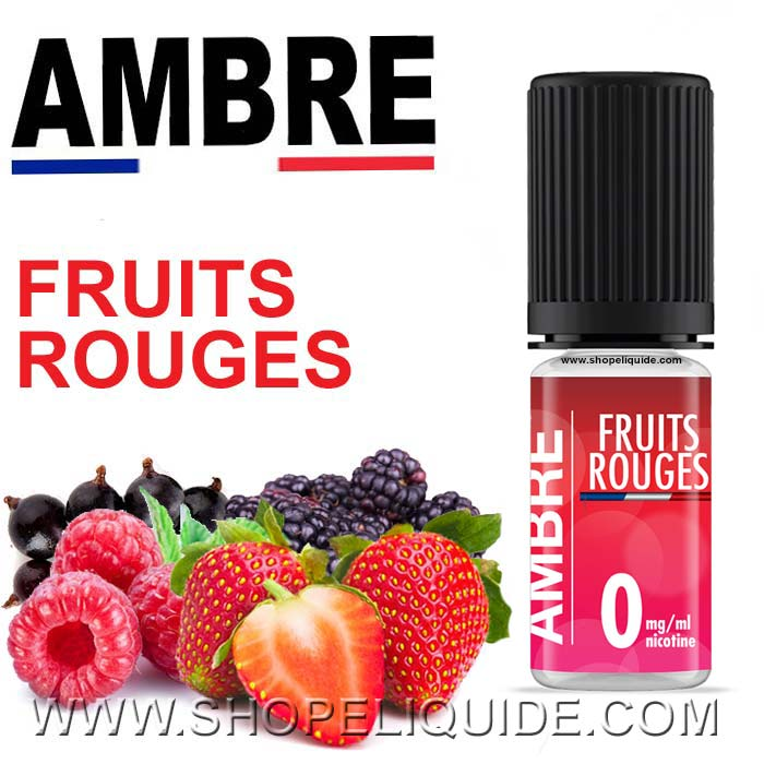 E-LIQUIDE AMBRE FRUITS ROUGES